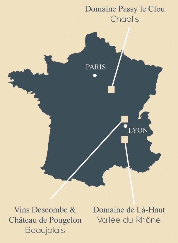 carte de france pour regroupement achat de vins
